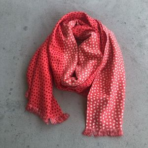•new• Vera Bradley Coral Polka Dot Silk Feel Scarf